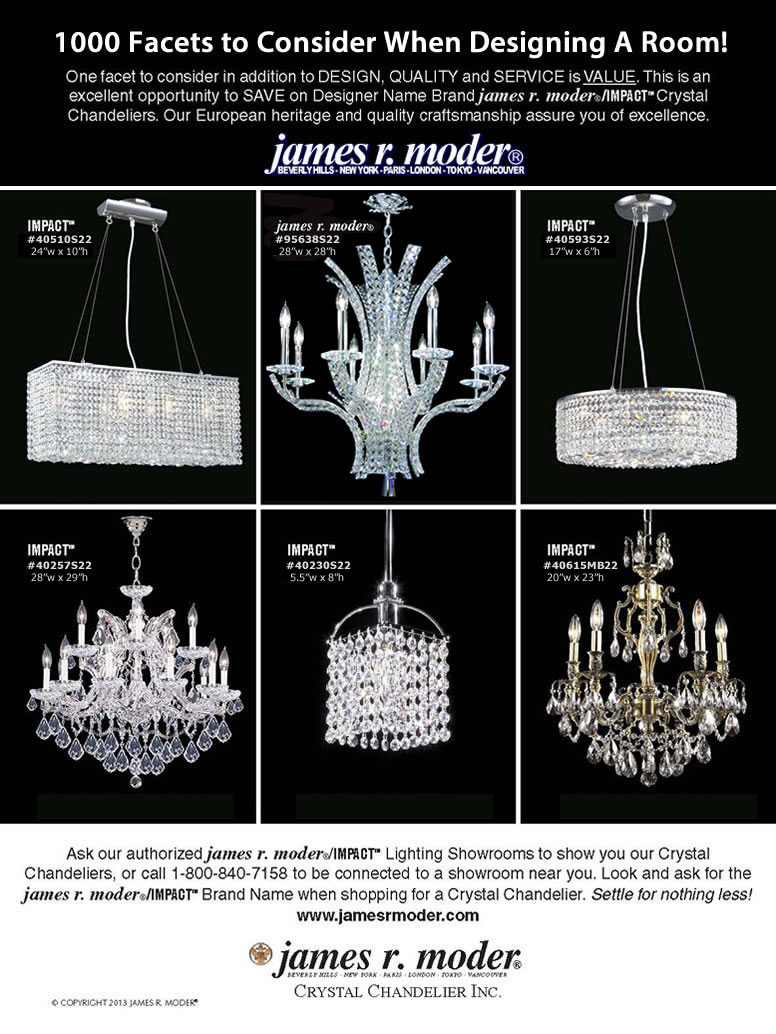 James R. Moder Crystal Chandelier - On Sale